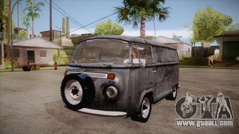 Volkswagen Transporter T2 Custom for GTA San Andreas inner view