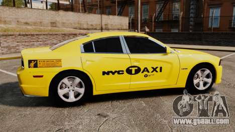 Dodge Charger 2011 Taxi for GTA 4 left view