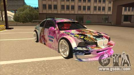 BMW M3 E46 GTR Golden Time Itasha for GTA San Andreas left view