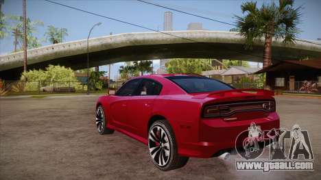 Dodge Charger SRT8 2012 for GTA San Andreas back left view