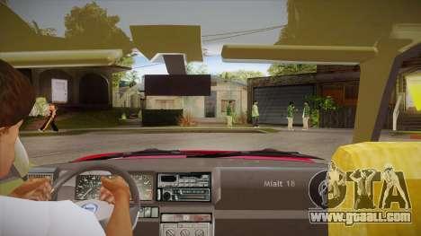 Lancia Delta Integrale EVO-2 for GTA San Andreas inner view