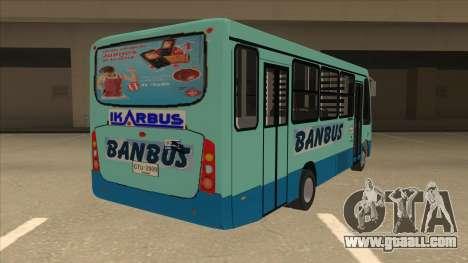 BANBUS Bus Srb. for GTA San Andreas right view