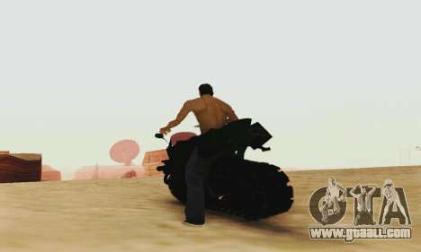 Mercenaries 2 Panzercycle for GTA San Andreas back view