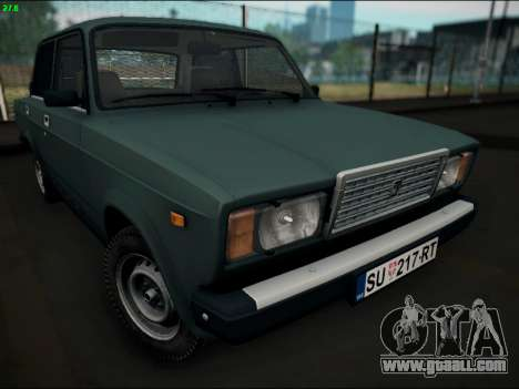 LADA 2107 Riva for GTA San Andreas back view