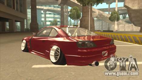 Nissan Silvia S18-5 for GTA San Andreas back view