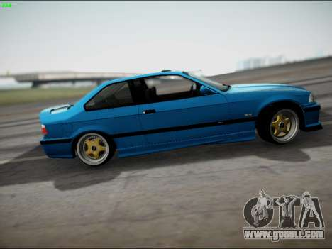 BMW M3 E36 Stance for GTA San Andreas back left view