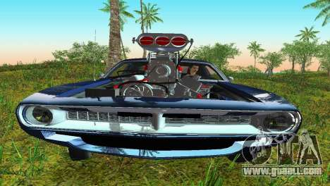 Plymouth Barracuda Supercharger for GTA Vice City back left view