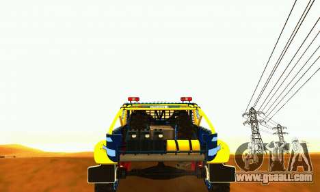 UAZ 31514 Rally for GTA San Andreas back view