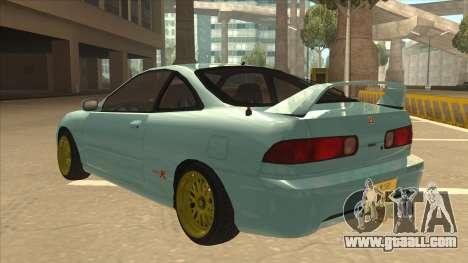 Honda Integra JDM Version for GTA San Andreas back left view