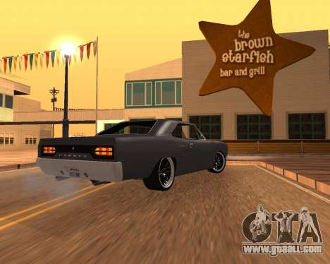 Plymouth Road Runner 1970 for GTA San Andreas left view