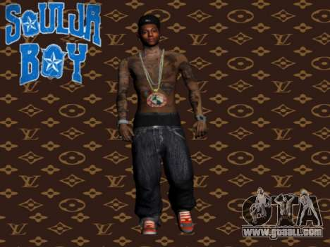 Soulja Boy skin for GTA San Andreas