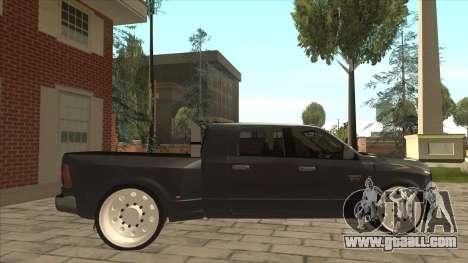 Dodge Ram Laramie Low for GTA San Andreas back left view