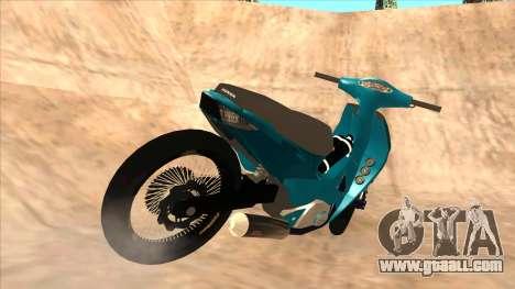 Honda 125cc Tuning for GTA San Andreas back left view