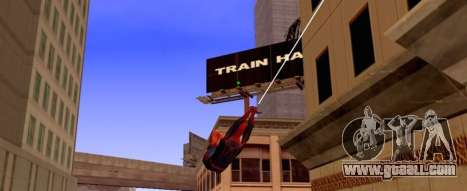Spider man is flying on the Web for GTA San Andreas second screenshot