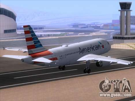 Airbus A319-112 American Airlines for GTA San Andreas inner view