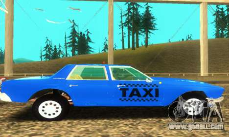 Fasthammer Taxi for GTA San Andreas inner view
