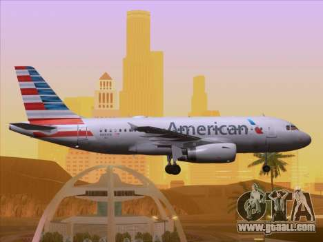 Airbus A319-112 American Airlines for GTA San Andreas interior