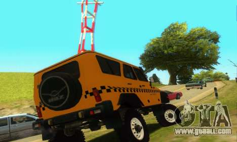 Uaz Hunter Taxi for GTA San Andreas right view