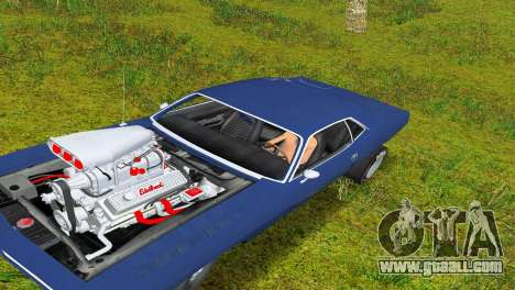 Plymouth Barracuda Supercharger for GTA Vice City left view