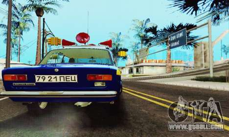 VAZ 21011 Propaganda for GTA San Andreas back view
