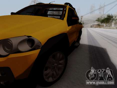 Fiat Strada Adv Locker for GTA San Andreas right view