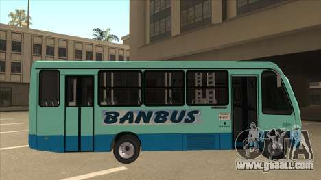 BANBUS Bus Srb. for GTA San Andreas back left view