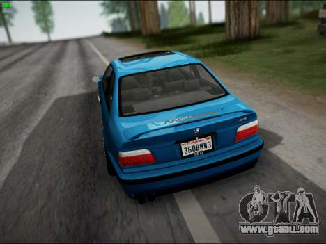 BMW M3 E36 Stance for GTA San Andreas bottom view