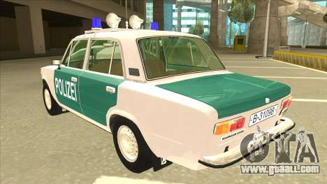 VAZ 21011 DDR police for GTA San Andreas back view