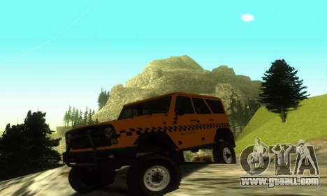 Uaz Hunter Taxi for GTA San Andreas left view