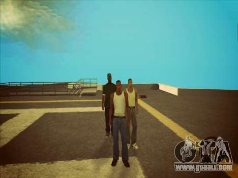 Switching between characters as in GTA V 2.0 for GTA San Andreas