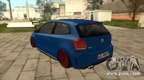 Volkswagen Polo GTi Euro Stance 2012 for GTA San Andreas back view