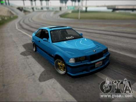 BMW M3 E36 Stance for GTA San Andreas interior