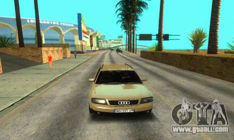 Audi A6 (C5) Avant for GTA San Andreas bottom view