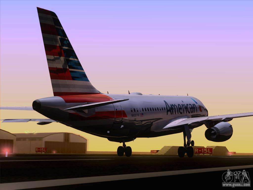 Airbus A319 112 American Airlines For Gta San Andreas