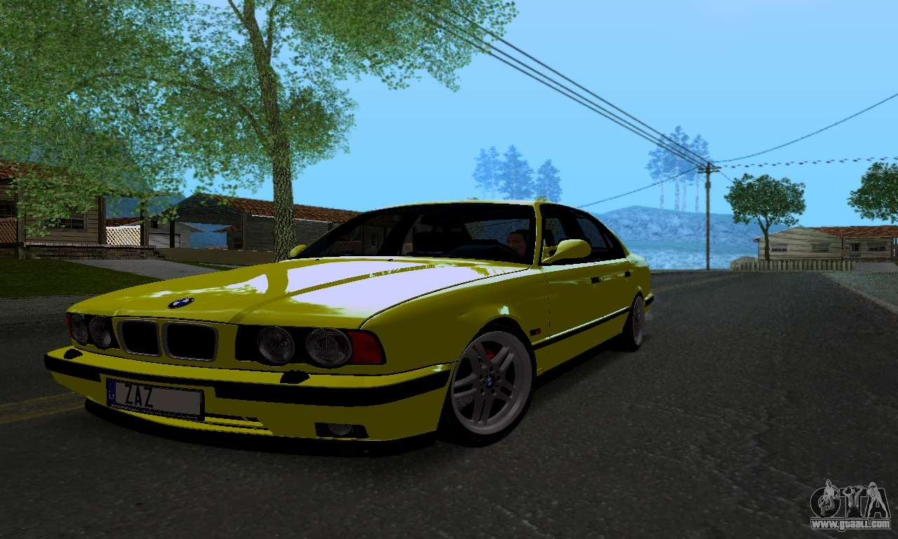 bmw m5 e34 ivlm v2 0 2 for gta san andreas. Black Bedroom Furniture Sets. Home Design Ideas