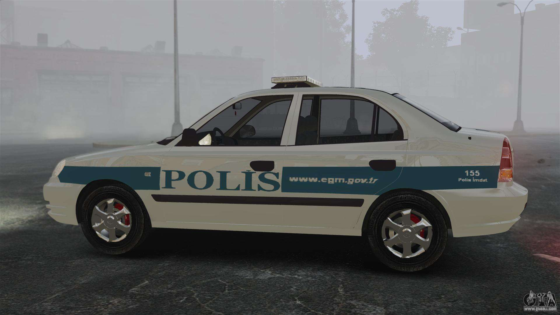 Hyundai Accent Admire Turkish Police Els For Gta 4