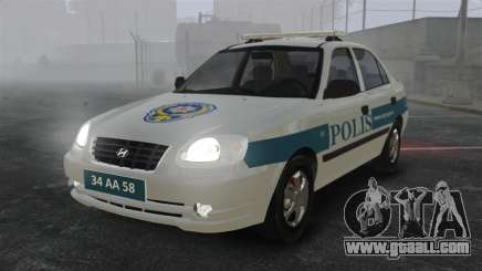 Hyundai Accent Admire Turkish Police [ELS] for GTA 4