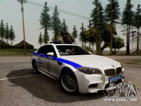 BMW M5 F10 INTERIOR OFFICE for GTA San Andreas side view