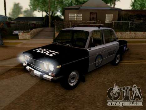 VAZ 2106 Los Santos Police for GTA San Andreas inner view