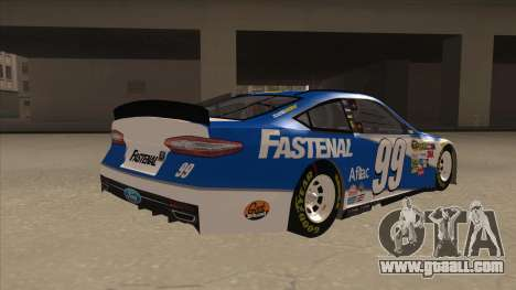 Ford Fusion NASCAR No. 99 Fastenal Aflac Subway for GTA San Andreas right view