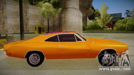 Dodge Charger 1969 (general lee) for GTA San Andreas back left view