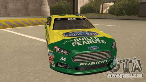 Ford Fusion NASCAR No. 34 Peanut Patch for GTA San Andreas left view