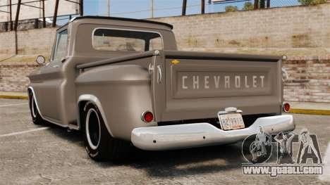 Chevrolet C-10 Stepside v2 for GTA 4 back left view