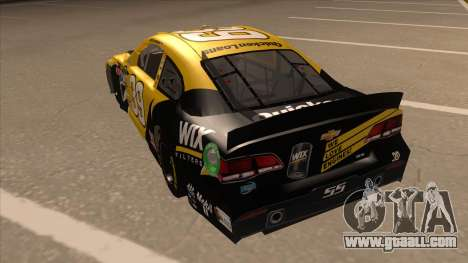 Chevrolet SS NASCAR No. 39  Wix Filters for GTA San Andreas back view