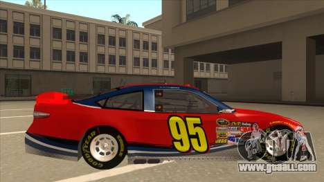 Ford Fusion NASCAR No. 95 for GTA San Andreas back left view