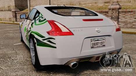 Nissan 370Z for GTA 4 back left view