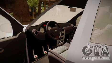 Dacia Duster Elite for GTA San Andreas inner view