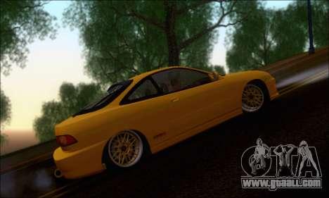 Honda Integra Type-R Hellaflush for GTA San Andreas back left view
