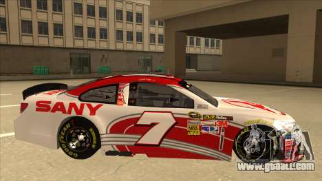 Chevrolet SS NASCAR No. 7 Sany for GTA San Andreas back left view
