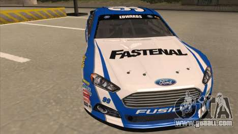 Ford Fusion NASCAR No. 99 Fastenal Aflac Subway for GTA San Andreas left view